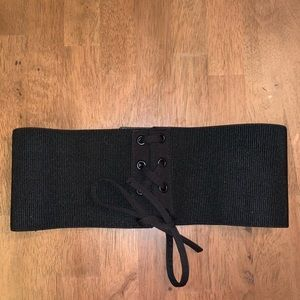 Express black chunky belt